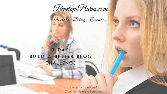 Build a Better Blog Challenge Day 2