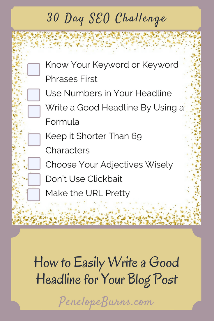 Easily Write a Good Headline for Your Blog Post