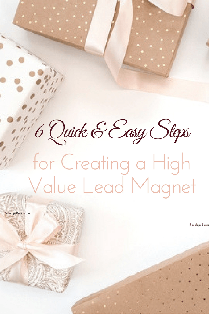 How to Create a High Value Lead Magnet Pin
