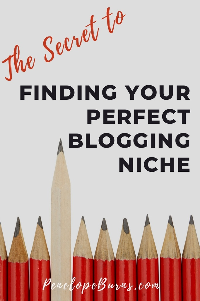 One pencil from a choice of lots of pencils shows that Finding Your Blogging Niche that Actually Has Profit Potential